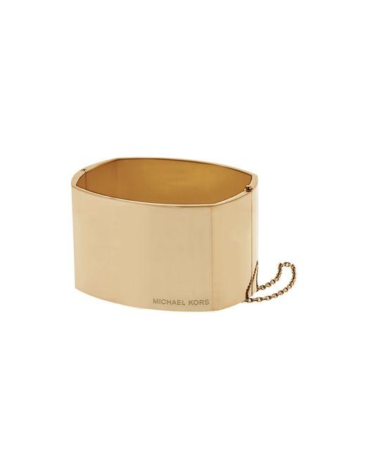 Michael Kors | Metallic Gold-tone Logo Bangle | Lyst