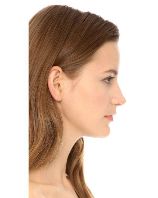 Tai   Metallic Alphabet Earrings   Lyst