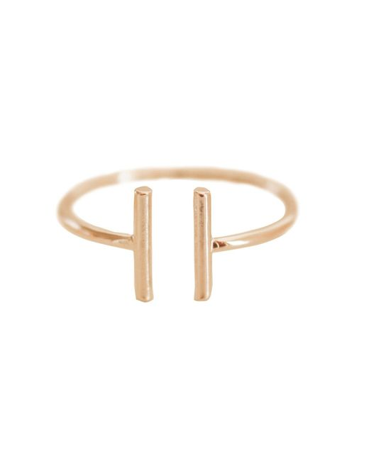Cloverpost | Pink Parallel Ring | Lyst