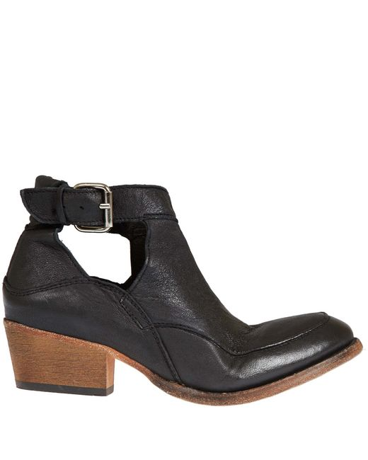 H by Hudson | Black Core Fringe Booties - Tan | Lyst