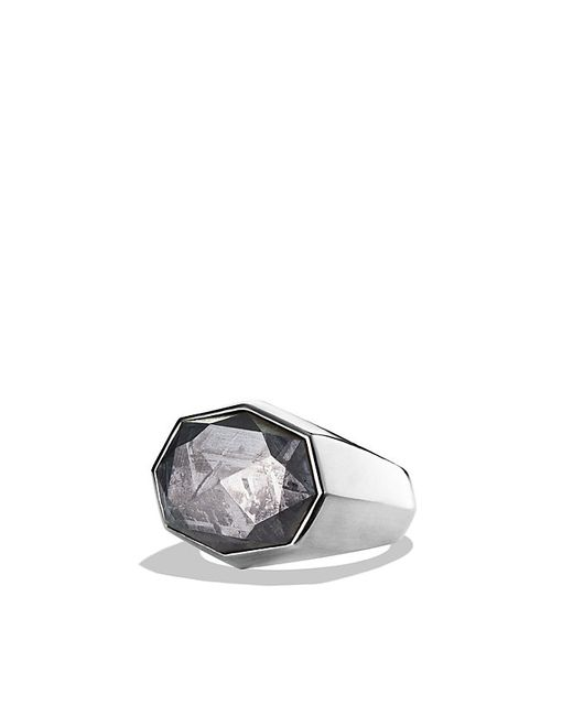David Yurman Meteorite Signet Ring In Silver For Men