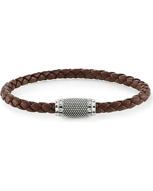 Thomas Sabo | Metallic Rebel At Heart Nappa Leather Unity Bracelet | Lyst