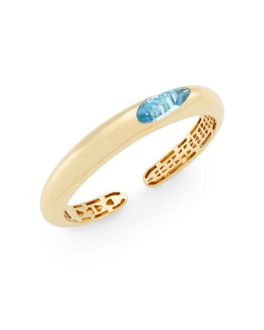 Roberto Coin | Metallic Capri Plus Blue Topaz & 18k Yellow Gold Bracelet | Lyst