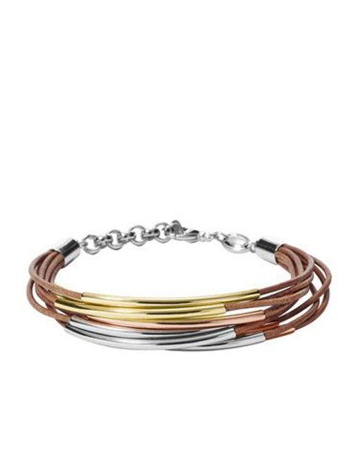 Fossil | Metallic Ja6694998 Ladies Bracelet | Lyst