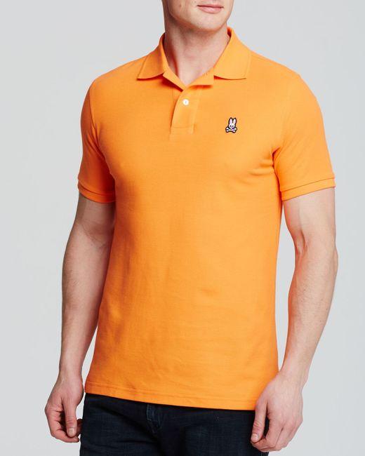 Psycho Bunny | Orange Classic Polo - Regular Fit for Men | Lyst