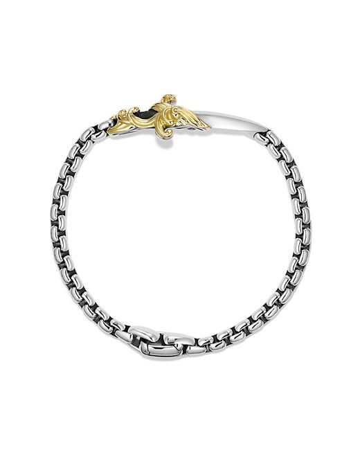 David Yurman   Metallic Waves Dagger Bracelet With 18k Gold for Men   Lyst