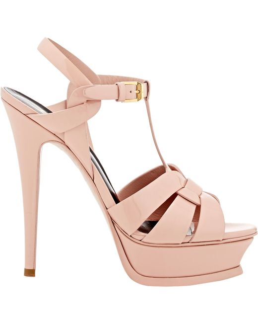 Saint Laurent | Pink 'tribute' Sandals | Lyst