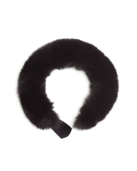 Brooks Brothers | Black Fox Fur Collar | Lyst
