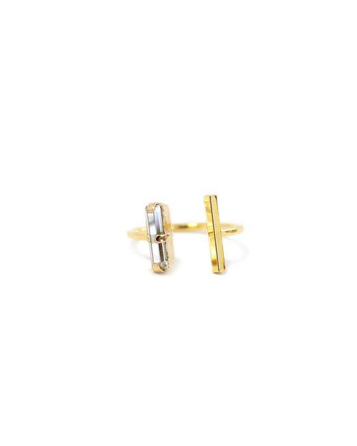 Kris Nations | Metallic Double Dash Swarovski Ring | Lyst