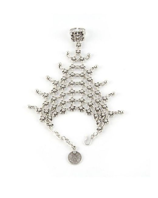 Natalie B. Jewelry | Metallic Natalie B. Queens Veil Handpiece In Silver | Lyst