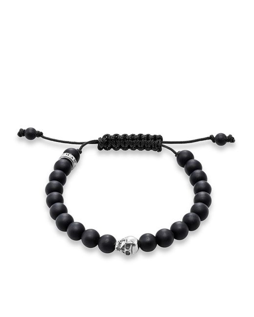 Thomas Sabo | Rebel At Heart Black Matt Skull Bracelet | Lyst
