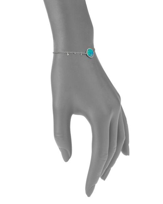 Meira T | Blue Boulder Opal, Diamond & 14k White Gold Bracelet | Lyst