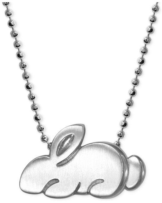 Alex Woo | Metallic Little Rabbit Zodiac Pendant Necklace In Sterling Silver | Lyst