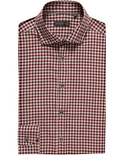 Corneliani | Red Slim-fit Cotton Shirt for Men | Lyst