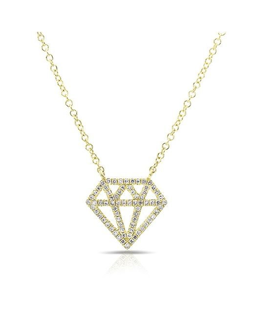 Anne Sisteron | Metallic 14kt Yellow Gold Diamond Bling Necklace | Lyst