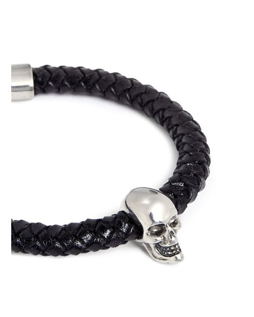 Alexander McQueen | Black Skulls Bracelet for Men | Lyst