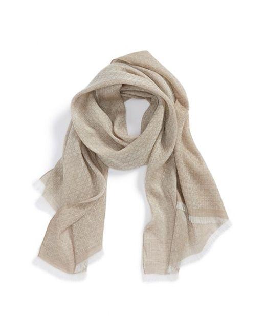 Ferragamo | Natural Gancini Linen & Cashmere Scarf for Men | Lyst