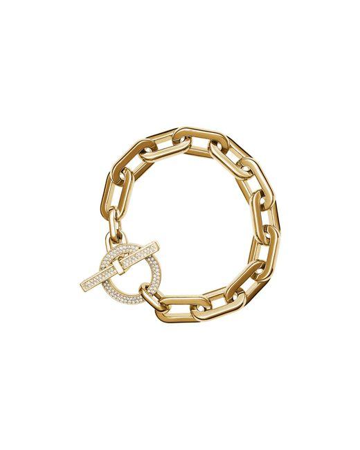 Michael Kors | Metallic Frozen Chain Toggle Bracelet | Lyst