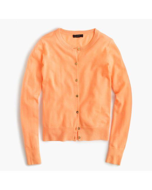 J.Crew | Orange Lightweight Wool Jackie Cardigan Sweater | Lyst