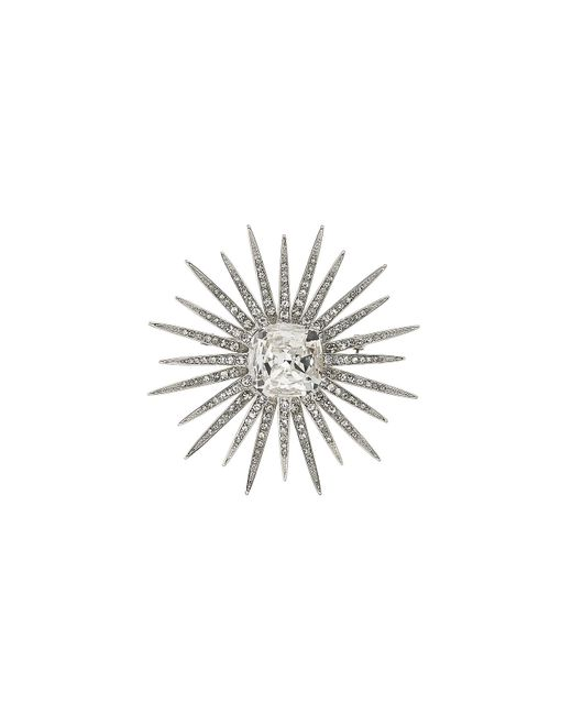 Kenneth Jay Lane | Metallic Embellished Brooch - Silver | Lyst
