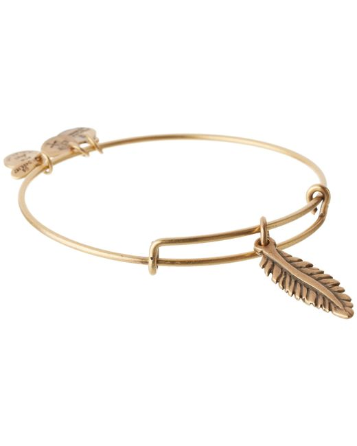 ALEX AND ANI | Metallic Feather Charm Bangle | Lyst