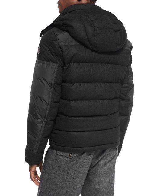 moncler ryan wool sleeve puffer jacket
