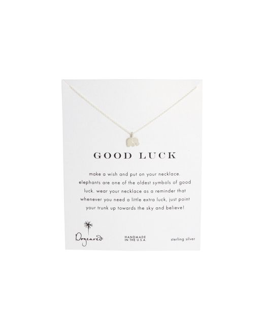 Dogeared | Metallic Good Luck Elephant Reminder Necklace | Lyst