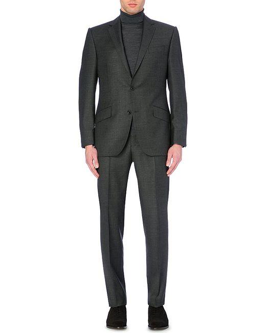 Richard James | Gray Basket-weave Wool Suit for Men | Lyst