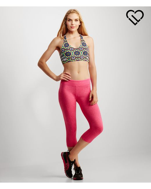 Live Love Dream | Pink Lld #bestbootyever Marled Crop Leggings | Lyst
