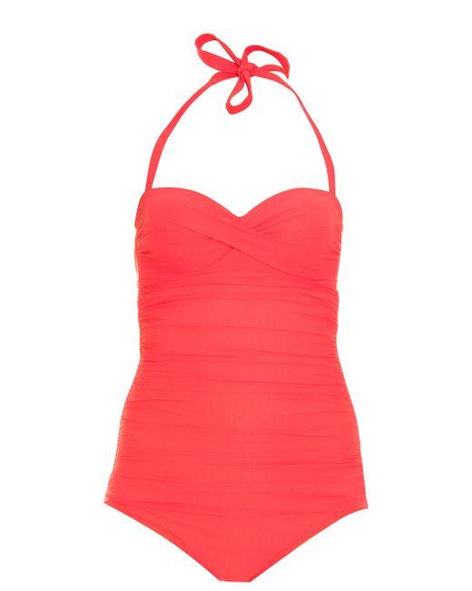Heidi Klein | Red Ruched Swimsuit | Lyst