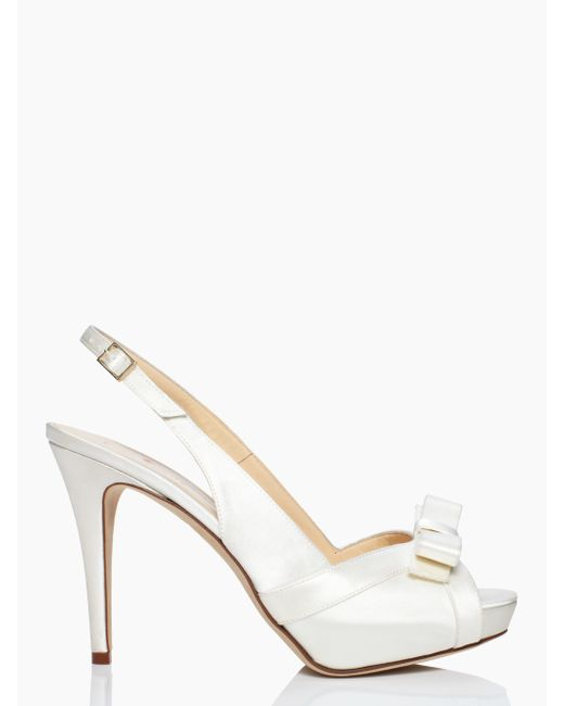 Kate Spade | White Grano Heels | Lyst