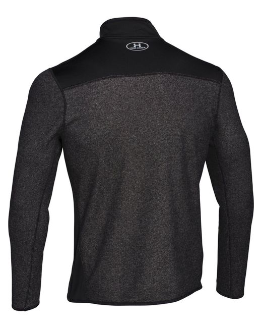 Under Armour | Black Survival Fleece 1/4 Zip for Men | Lyst