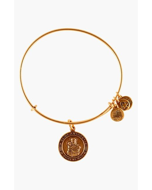 ALEX AND ANI | Brown 'st. Anthony' Wire Bangle | Lyst