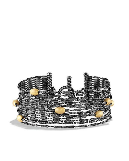David Yurman   Metallic Chain Bracelet With 18k Gold   Lyst