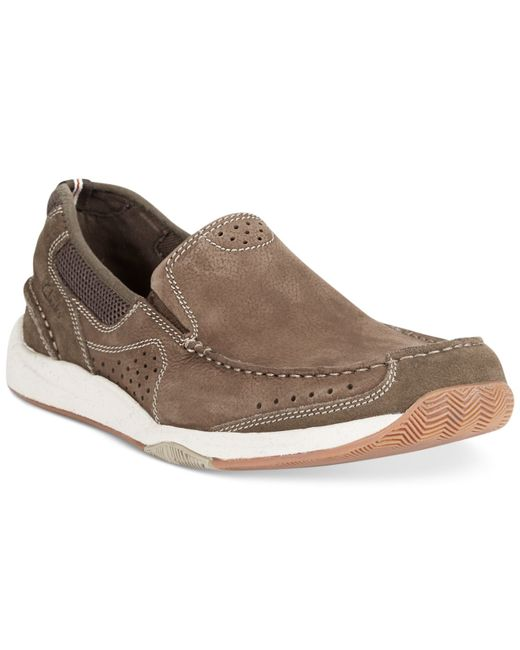 Clarks | Green Men's Allston Free Slip-on Boat Shoes for Men | Lyst