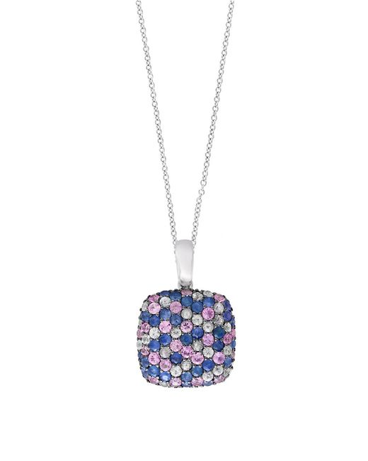 Effy | Blue 925 Sterling Silver And Tricolor Sapphire Pendant Necklace | Lyst