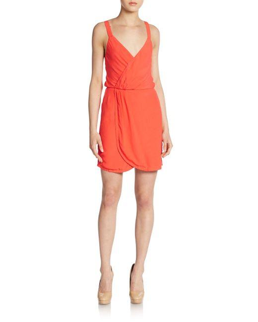 Naven   Orange Surplice Blouson Dress   Lyst