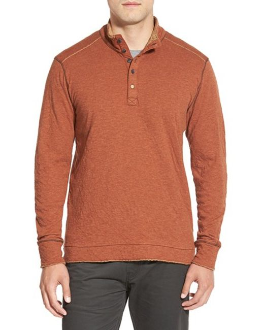 Jeremiah | Orange 'mitch' Double Faced Mock Collar Shirt for Men | Lyst