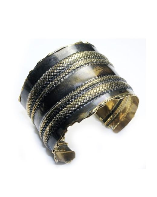 Sibilla G Jewelry | Metallic Sibilla G Venetia Metamorphose Cuff In Oxidized Brass | Lyst