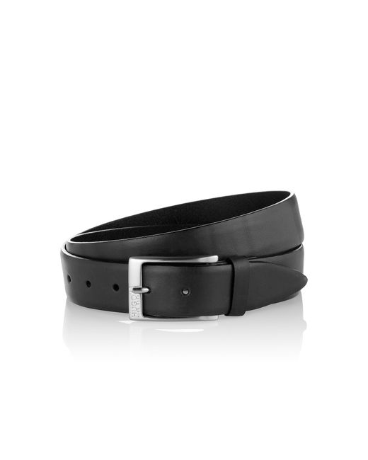 HUGO | Black Leather Belt 'c-eberio' for Men | Lyst
