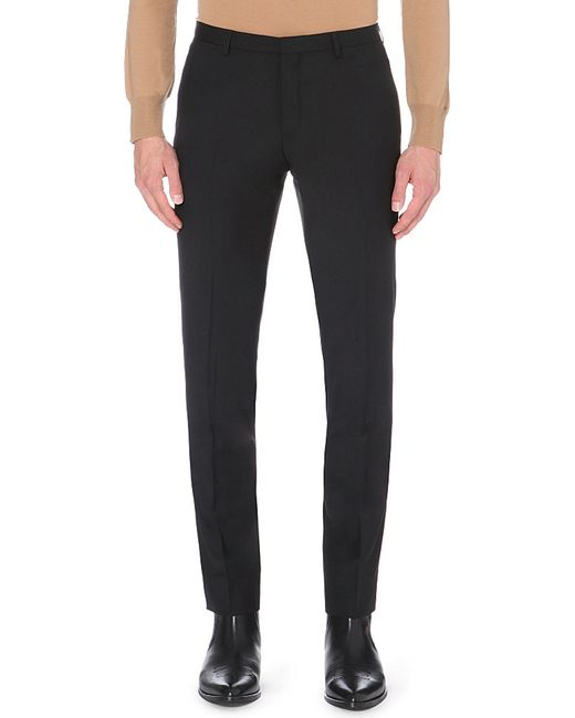 J.Lindeberg | Black Slim-fit Tapered Wool Trousers for Men | Lyst