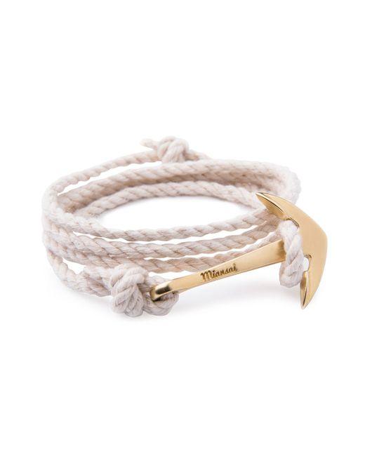 Miansai | Natural Anchor Rope Bracelet for Men | Lyst