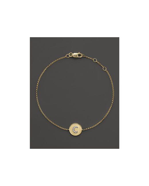 KC Designs | Yellow Diamond Pave Initial Bracelet | Lyst