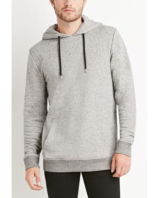 Forever 21 | Gray Marled Pullover Hoodie for Men | Lyst