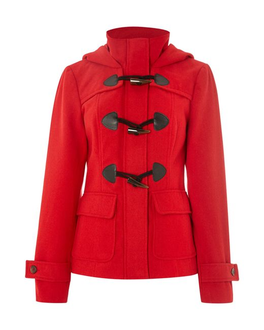 Vero Moda   Red Long Sleeved Short Duffle Coat   Lyst