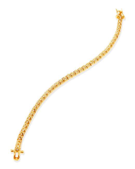 Eddie Borgo | Metallic Pave Crystal Pyramid Tennis Bracelet | Lyst