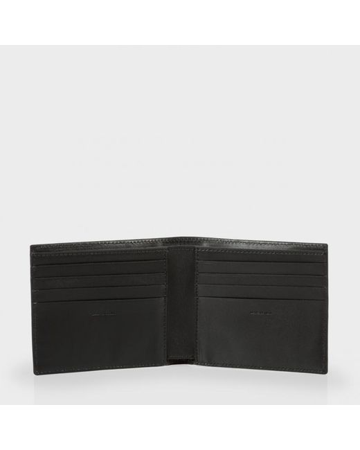 Paul Smith Men 39 S Black And Red Leather 39 Ants 39 Print Billfold Wallet In Red For Men Black Red