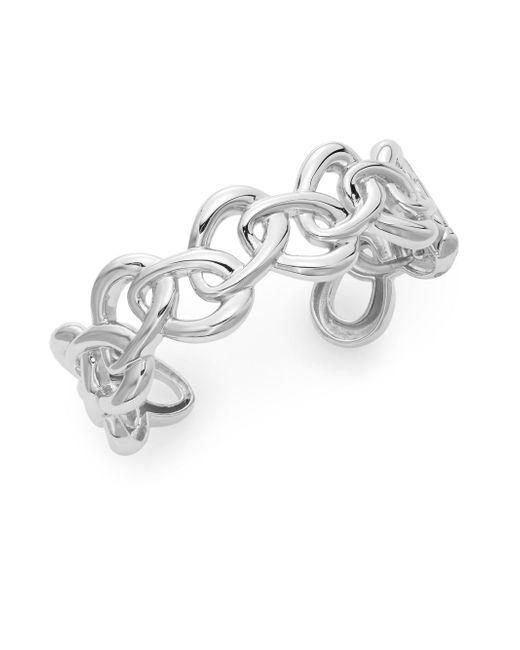 Saks Fifth Avenue | Metallic Sterling Silver Oval Link Cuff Bracelet | Lyst