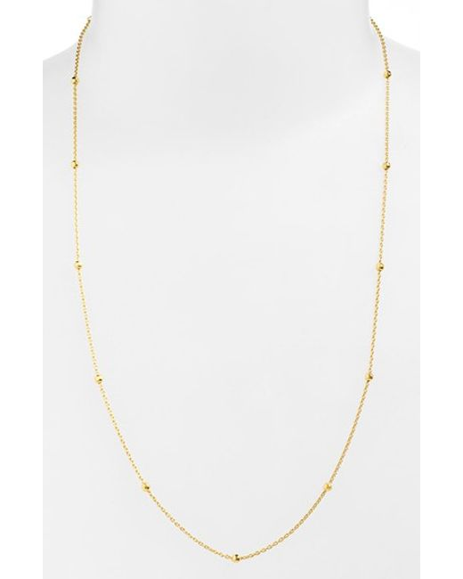 Argento Vivo | Metallic Station Necklace | Lyst