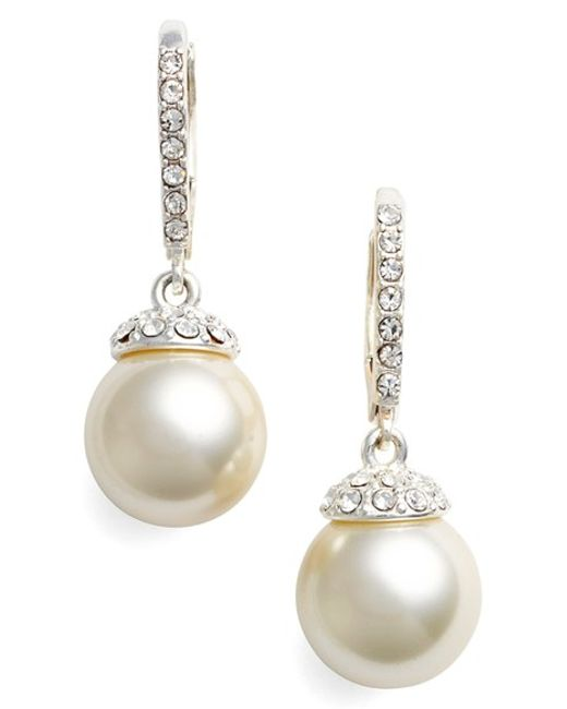 Givenchy | Metallic Faux Pearl Drop Earrings | Lyst